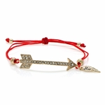 Arrow and Cord Adjustable Bracelet