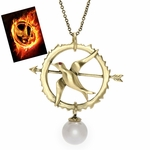 Mockingjay Pearl Necklace