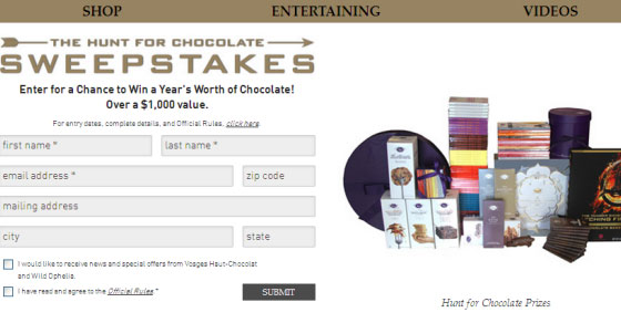 Hunger Games Chocolate Contest