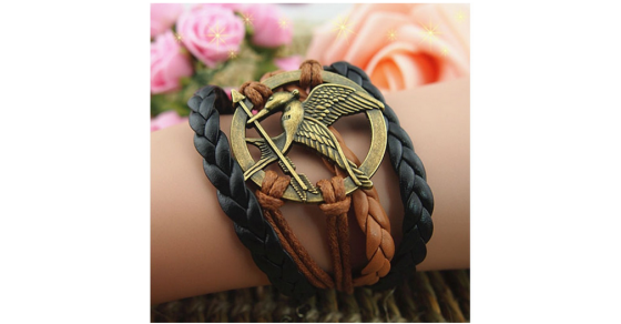 Stacked Hunger Games Bracelet