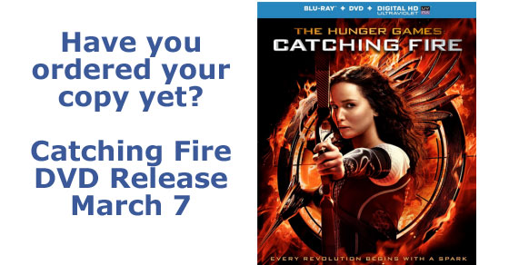 Catching Fire DVD Release