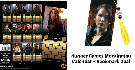Hunger Games Calendar + Bookmark Deal